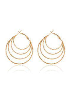 Multilayered Hoop Earrings - Golden
