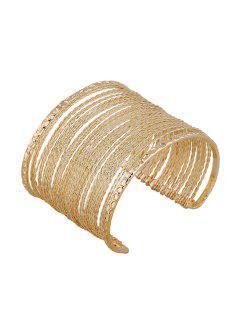 Chunky Multi-Layered Matte Bracelet - Golden