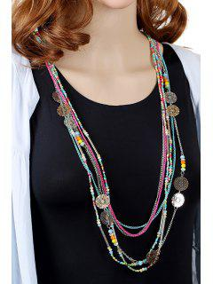 Stylish Multi-Layered Bead Long Style Necklace