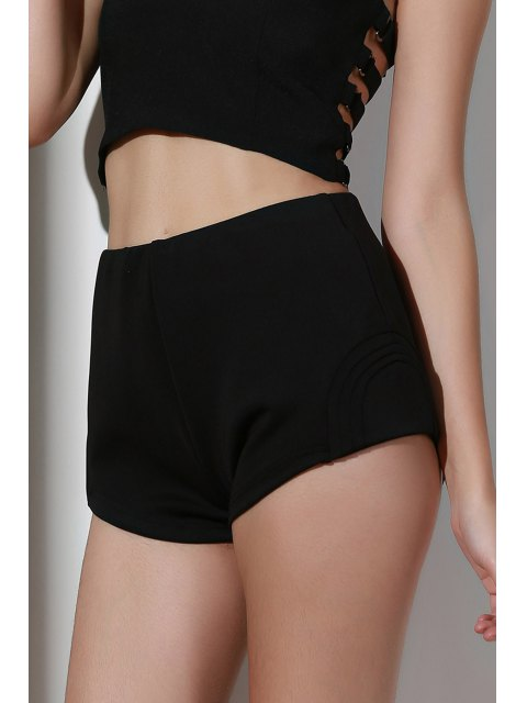 womens High-Waisted Black Shorts - BLACK M Mobile