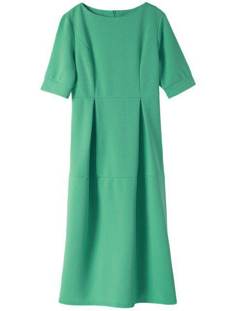 online Light Blue Half Sleeve Dress -   Mobile