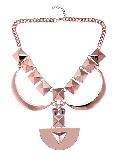 outfit Geometric Design Sweater Chain - ROSE GOLD  Mobile
