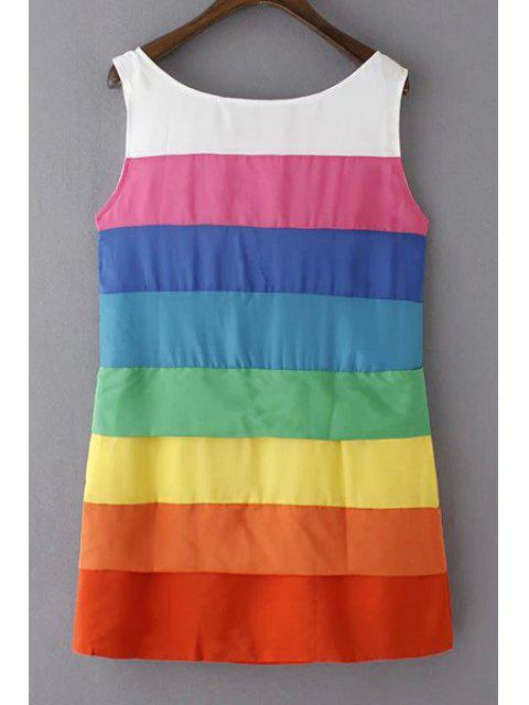 new Colorful Stripe Scoop Neck Sundress - COLORFUL L Mobile