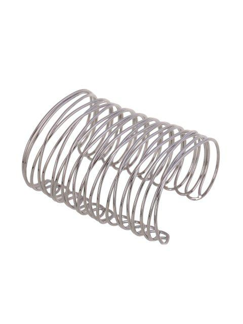 online Chunky Characteristic Cuff Bracelet - SILVER  Mobile