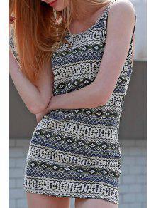 Argyle Print Cami Bodycon Dress - Xl
