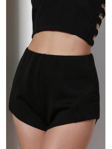 De Talle Alto Negro Pantalones Cortos - Negro 2xl