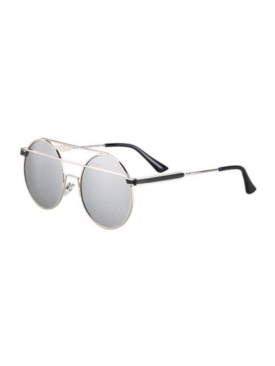 31e820660 21% OFF] 2019 Metal Bar Silver Round Frame Sunglasses In SILVER | ZAFUL