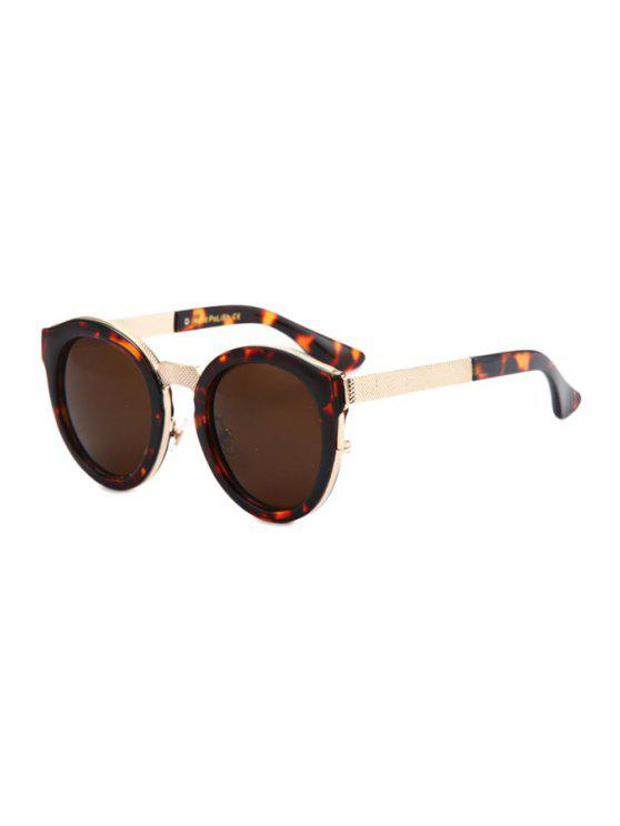 affordable Flecky Frame Metal Splicing Sunglasses - BROWN