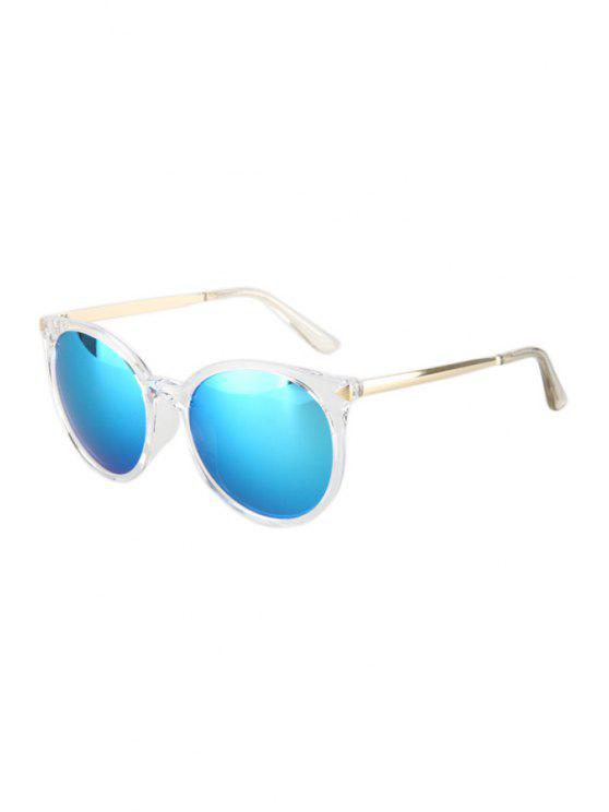 shop Triangle Inlay Transparent Cat Eye Frame Sunglasses - AZURE