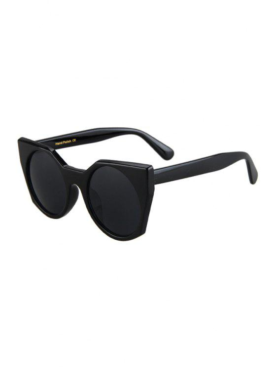 new Round Lenses Black Cat Eye Sunglasses - BLACK