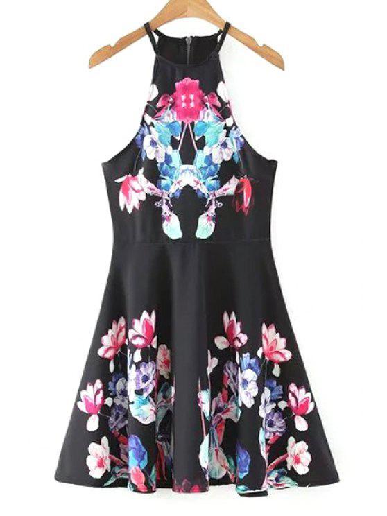 Fit et Flare Halter Dress - Noir L