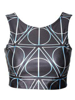 Reversible Fitted Sports Crop Top - Black