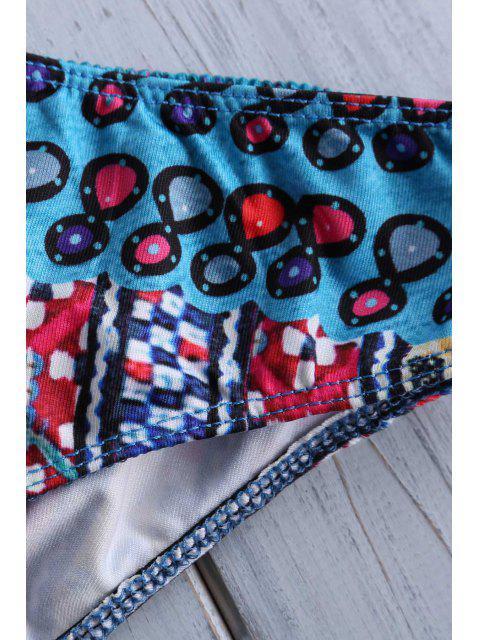 latest Ethnic Print Halterneck Bikini Set - COLORMIX XL Mobile