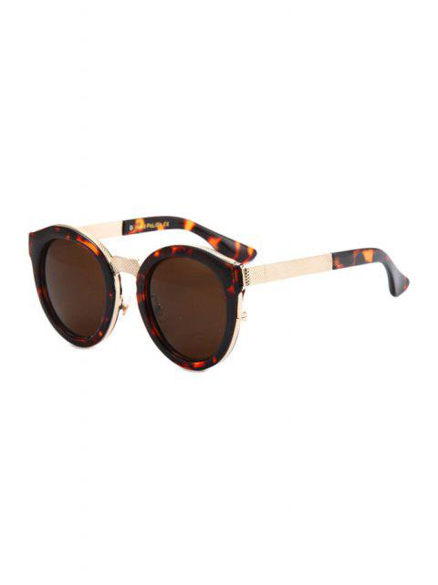 affordable Flecky Frame Metal Splicing Sunglasses - BROWN  Mobile