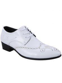 عصري الجناح و الدانتيل يصل تصميم أحذية رسمية للرجال - أبيض 42