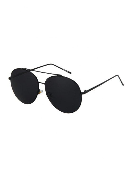 affordable Solid Color Aviator Sunglasses - BLACK