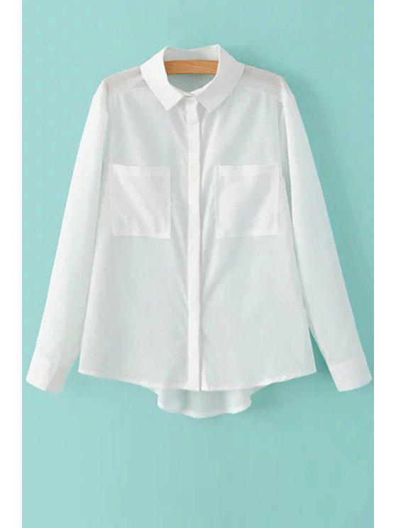 shop Two Pockets White Shirt - WHITE S