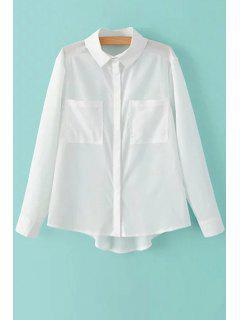 Deux Poches Chemise Blanche - Blanc L