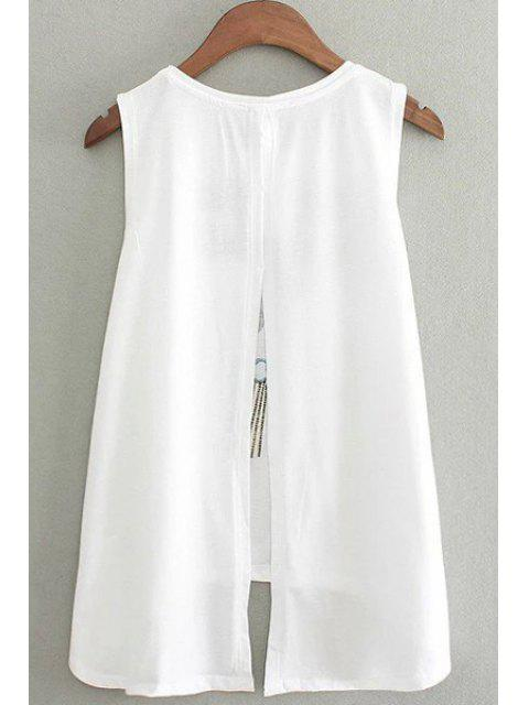 women's Character Print Round Collar Sleeveless Tee - WHITE ONE SIZE(FIT SIZE XS TO M) Mobile