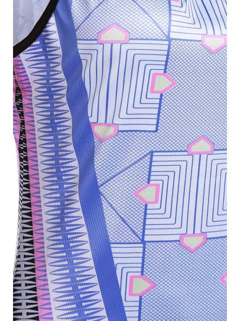 fancy Bohemian Print Cami Slit Maxi Dress - PURPLE L Mobile
