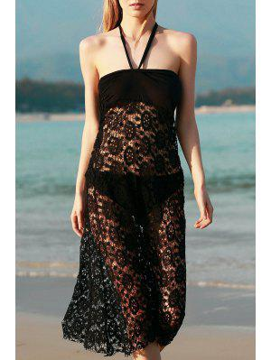 Solid Color Lace Cover Up Jupe