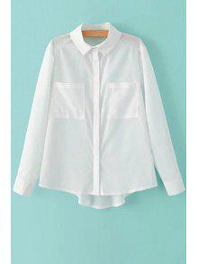 Two Pockets White Shirt - White S