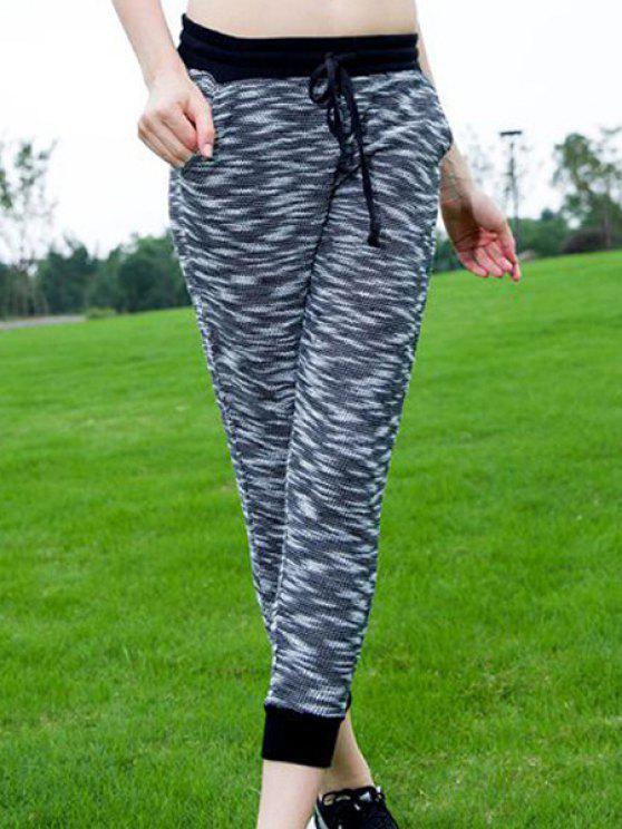 Élégant Drawstring Sport Pants - Gris S
