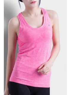 Racerback Fitted Quick Dry Tank Top - Rose S