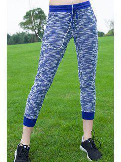 Sport Pantalones Con Estilo Del Lazo De Las Mujeres - Azul S