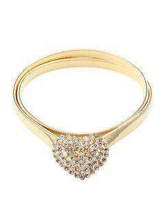 Heart Shape Elastic Waistband - Golden