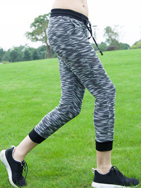 outfits Women's Stylish Drawstring Sport Pants - GRAY S Mobile