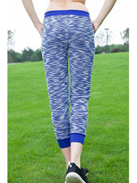 shop Women's Stylish Drawstring Sport Pants - BLUE S Mobile