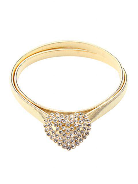 womens Heart Shape Elastic Waistband - GOLDEN  Mobile