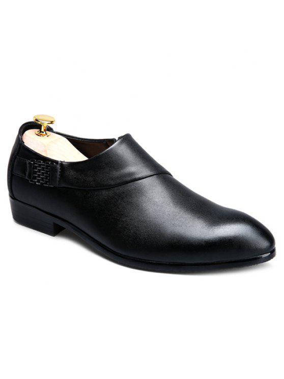 تصميم عصري معدني و بلون أحذية رسمية للرجال - أسود 43