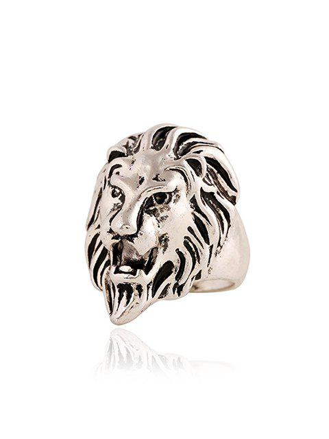 Style Punk Lion Head Ring Shape For Men - Argent Taille Unique Mobile