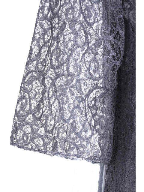 Ajouré dentelle Crochet Dress + Camisole Dress Twinset - Gris XXS Mobile