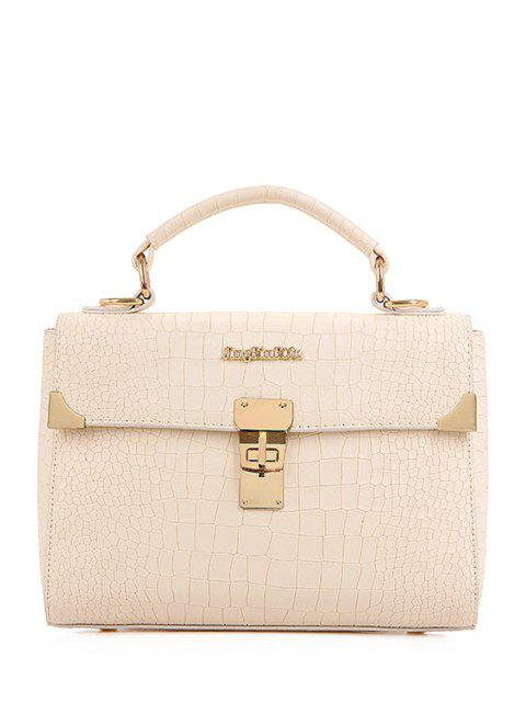women's Metallic Letter Crocodile Print Tote Bag -   Mobile