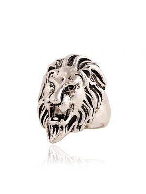 Punk Style Lion Head Shape Ring For Men