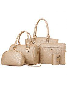 Buy PU Leather Embossing Design Tote Bag Women - GOLDEN