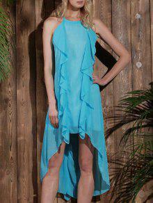 57% OFF  2019 Sleeveless High Low Chiffon Flowy Dress In LIGHT BLUE ... cb61b9ab4d0d