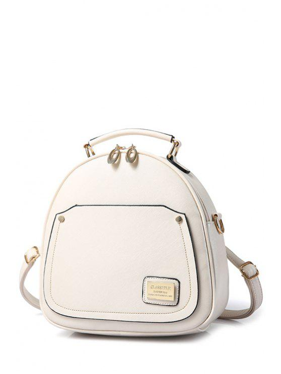 new Solid Color Stitching Metal Satchel - OFF-WHITE