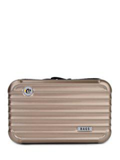 Suitcase Shape Solid Color Clutch Bag - Champagne Gold