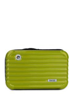 Suitcase Shape Solid Color Clutch Bag - Apple Green