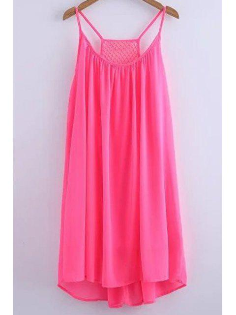 outfits Chiffon Mesh Design Flippy Dress - PINK M Mobile