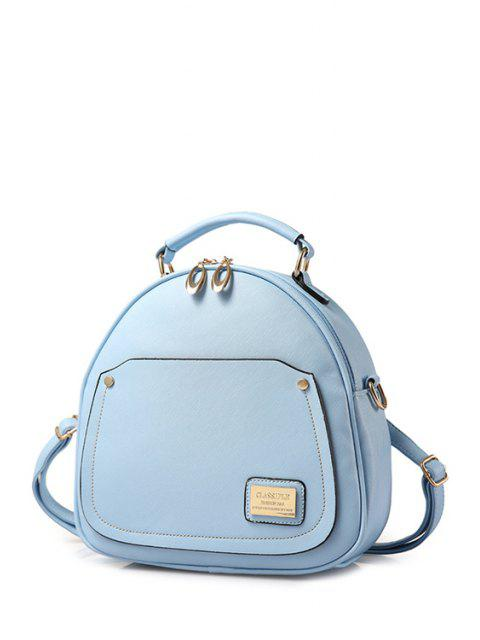 best Solid Color Stitching Metal Satchel -   Mobile