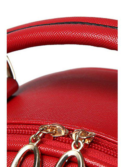 new Solid Color Stitching Metal Satchel -   Mobile