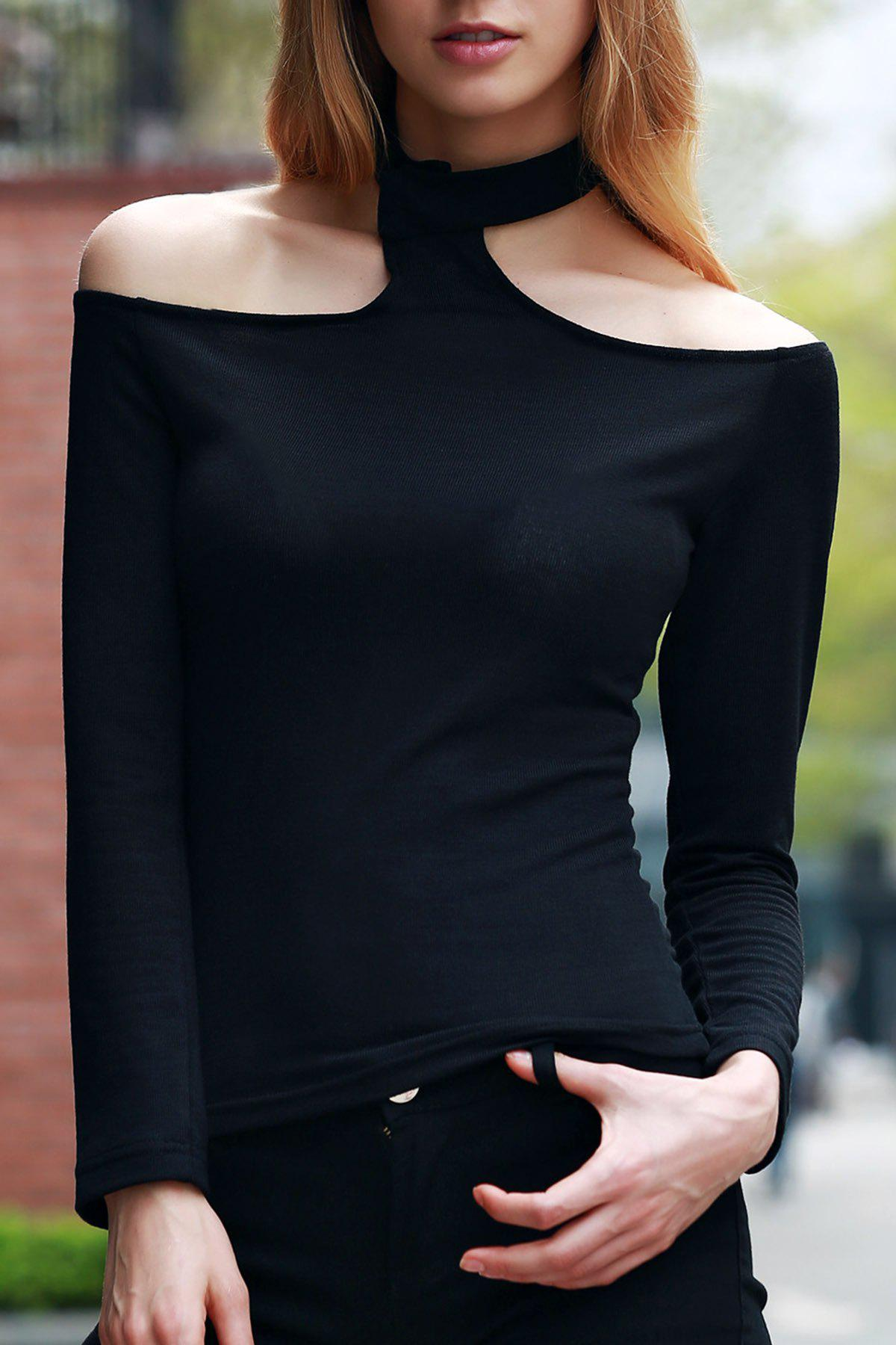 Solid Color Long Sleeve T Shirt 176093302