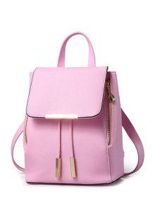 Buy Cover Metal Solid Color Satchel - PINK