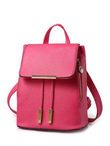 Buy Cover Metal Solid Color Satchel - ROSE