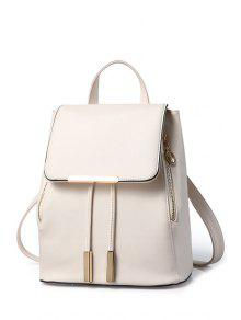 Buy Cover Metal Solid Color Satchel - OFF-WHITE